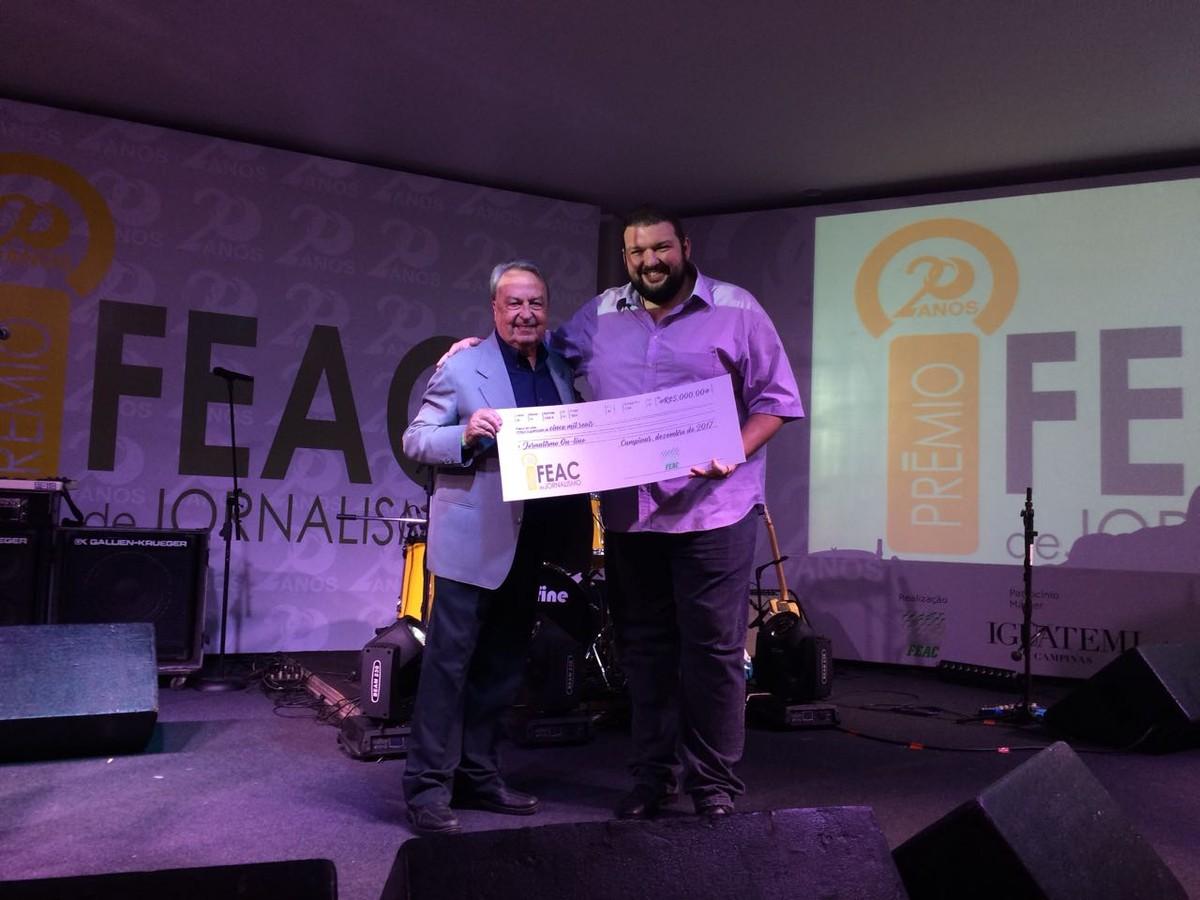 Reportagens do G1 e da EPTV vencem categorias do Prêmio Feac de Jornalismo