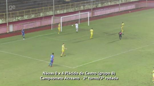 Atacante destaca eficiência ofensiva do Plácido de Castro no 2º tempo de goleada sobre o Náuas