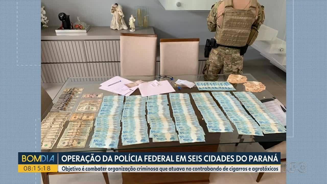Operação mira quadrilha suspeita de contrabandear agrotóxicos e cigarros
