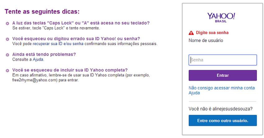 Ameaça hacker: Yahoo pede que usuários troquem a senha do Yahoo Mail