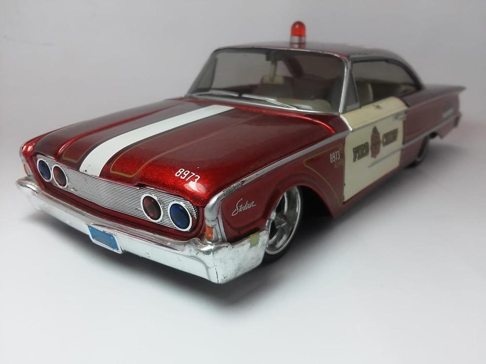Miniatura de carro antigo — Foto: Divulgação