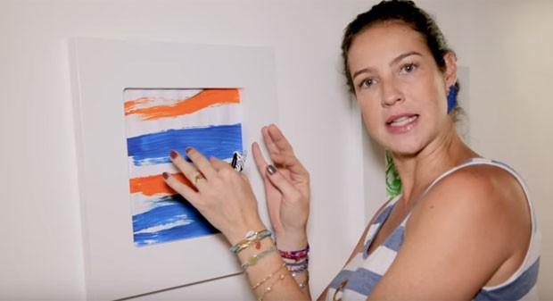 Luana exibe desenhos de seu filho Dom  (Foto: Reprodução)