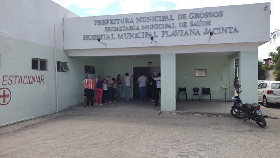 Hospital Municipal Flaviana Jacinta, em Grossos RN — Foto: Divulgação/Prefeitura de Grossos