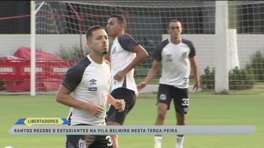 Santos pronto para receber o Estudiantes pela Libertadores