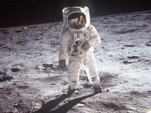 Neil Armstrong na Lua (Foto: NASA/Divulgação)