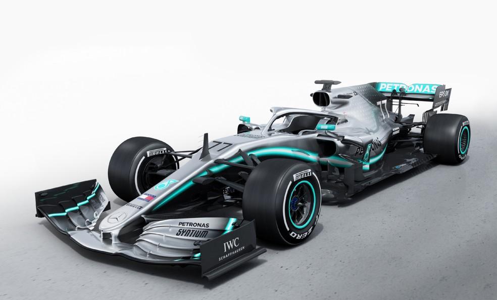 Novo carro da Mercedes pode levar equipe ao hexacampeonato — Foto: Divulgação