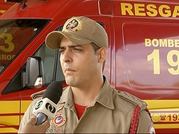 Segundo major do Corpo de Bombeiro, em Gurupi já há um palno de ação (Foto: Reprodução/TV Anhanguera)
