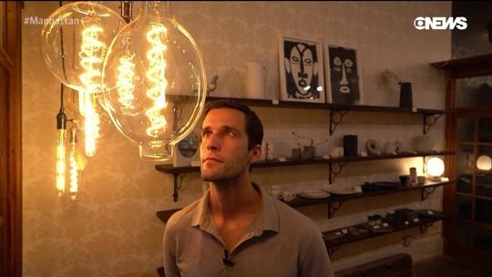 Pedro Andrade visita famosa loja de decoração em Nova York
