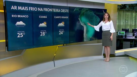 Frio chega em regiões do Centro-Oeste e Norte do Brasil