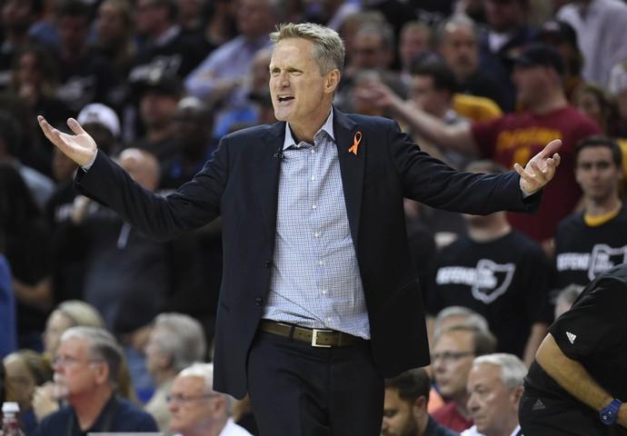Cleveland x Golden State - jogo 4 finais nba basquete - Steve Kerr (Foto: Reuters)