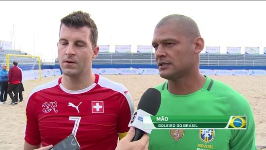 Seleção brasileira de futebol de areia goleia Suíça em estreia no Grand Prix