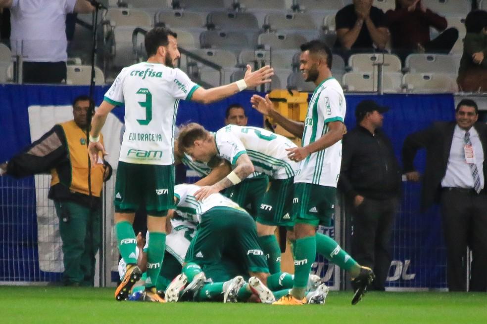 Palmeiras chegou a abrir o placar, mas sofreu o empate (Foto: Dudu Macedo/Estadão Conteúdo)
