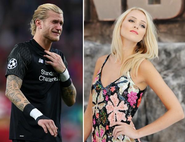 O goleiro do Liverpool, Lorius Karius, e a celebridade britânica Rose Cochrane-Stack (Foto: Getty Images)