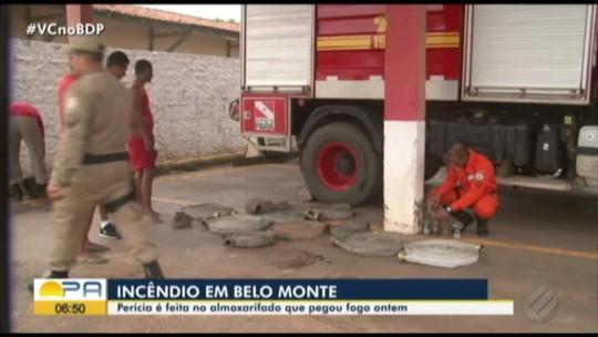 Galpão atingindo por incêndio na usina de Belo Monte passa por perícia