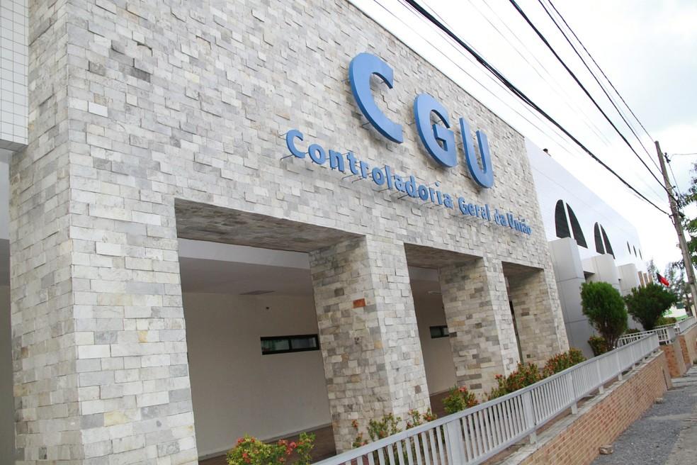 Fachada da CGU em João Pessoa — Foto: Kleide Teixeira/Jornal da Paraíba