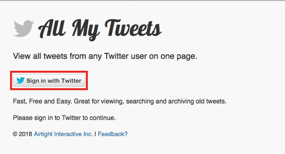 Tela de passo a passo para apagar publicações no Twitter — Foto: Reprodução