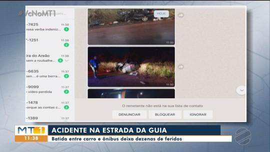 Acidente na Estrada da Guia tem uma morte e dezenas de feridos