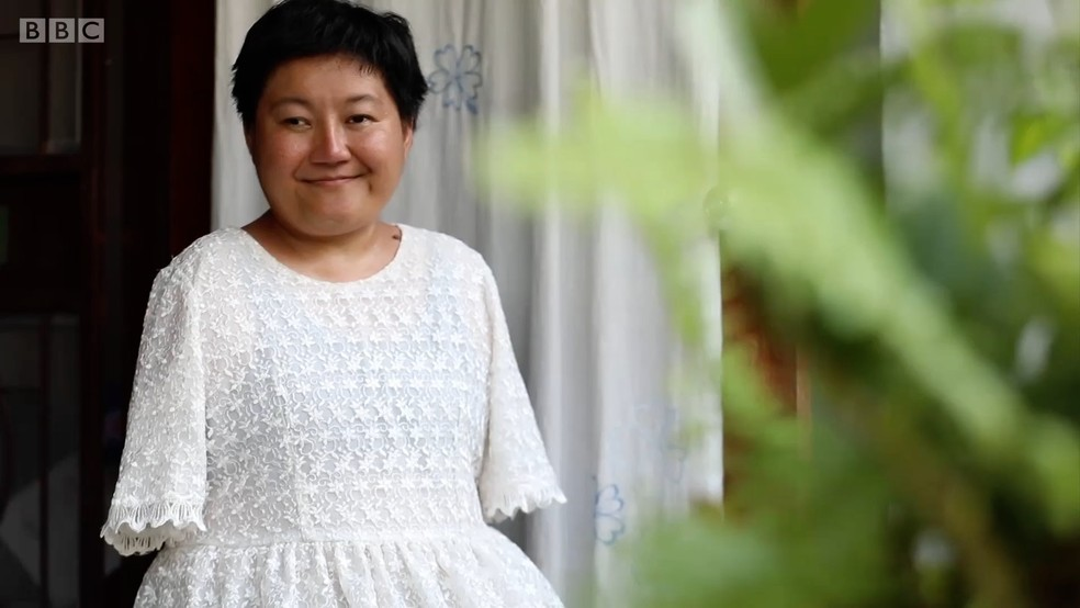 A professora tailandesa Patcharamon Sawana  (Foto: Reprodução BBC)