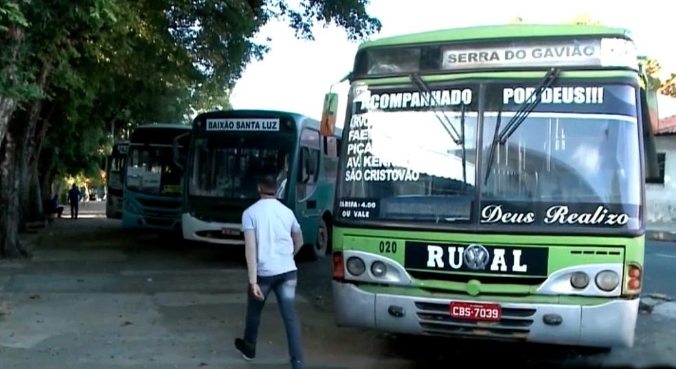 Transporte intermunicipal é suspenso no Piauí — Foto: Reprodução/TV Clube