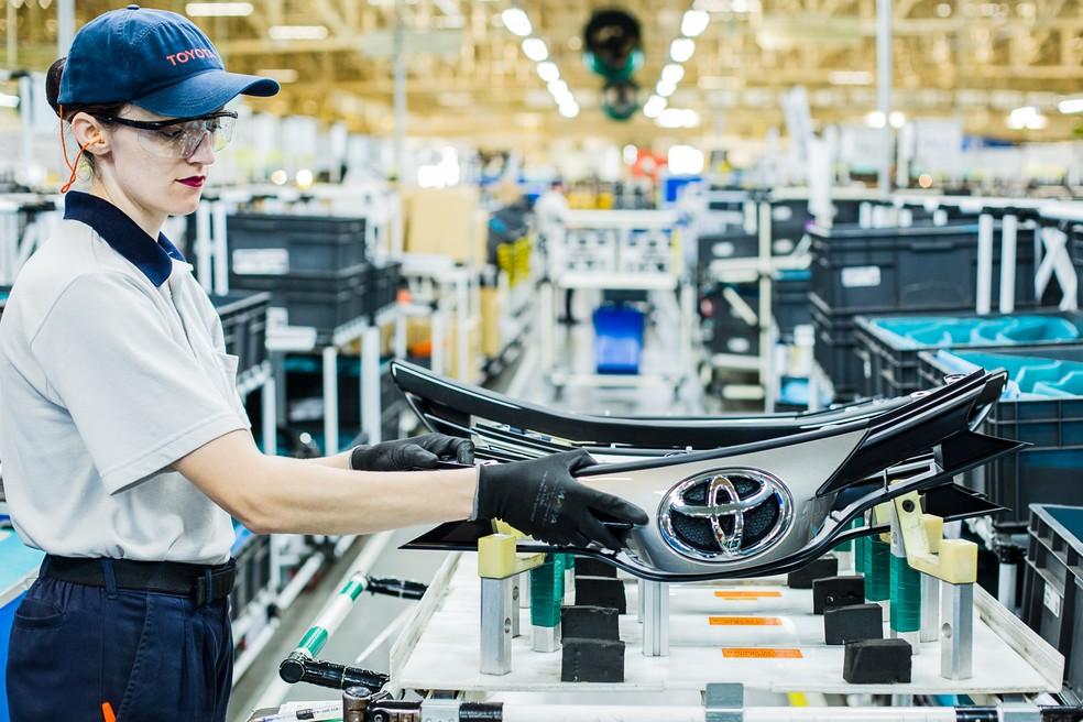 Fábrica da Toyota em Sorocaba (SP) produz Yaris e Etios — Foto: Toyota / Divulgação