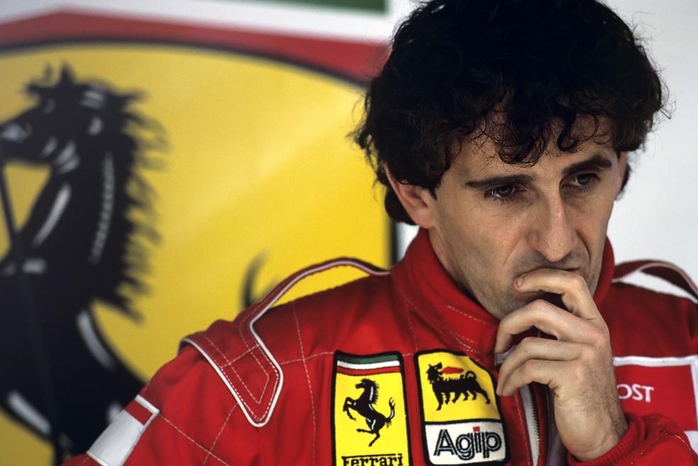 Alain Prost ficou furioso após abandonar GP da Alemanha de 1991 — Foto: Getty Images