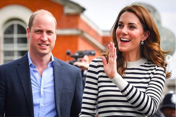 A duquesa Kate Middleton e o marido, Príncipe William (Foto: Instagram)