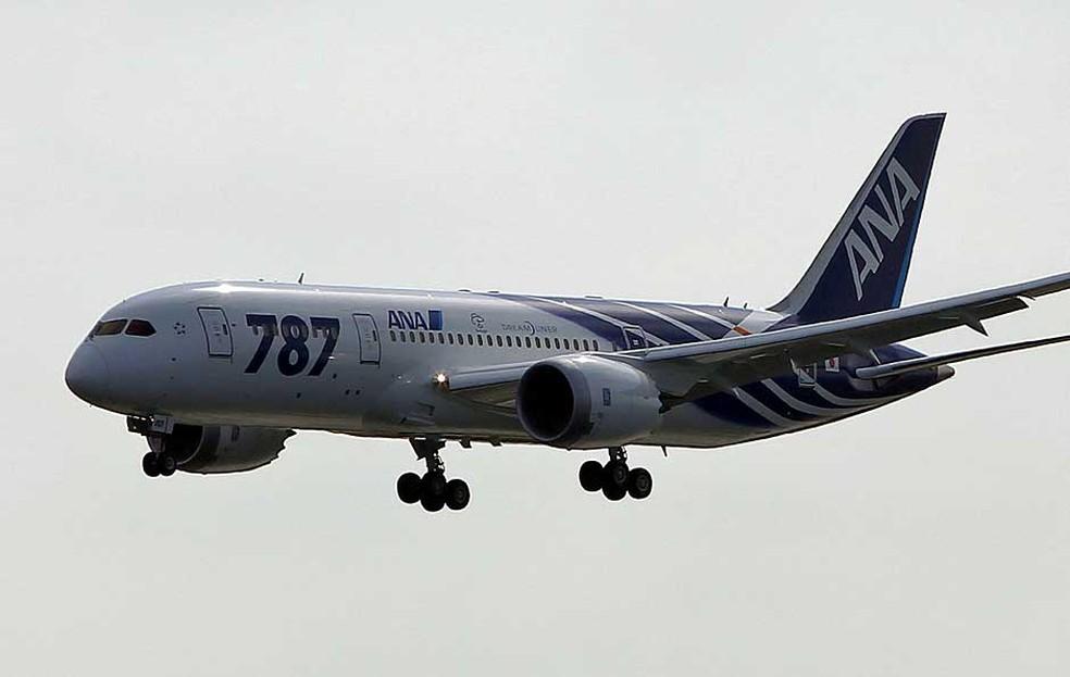 Boeing 787 em fibra de carbono — Foto: Itsuo Inouye / AP Photo