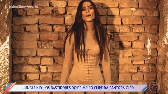 'Vídeo Show' mostra com exclusividade os bastidores do primeiro clipe da cantora Cleo