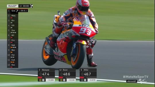 Marc Márquez é o mais rápido no treino de Silverstone e amplia recorde de poles na MotoGP