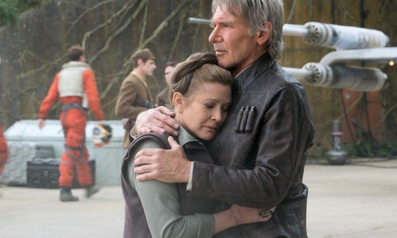 Harrison Ford e Carrie Fisher em cena de Star Wars: O Despertar da Força (2015) (Foto: Reprodução)