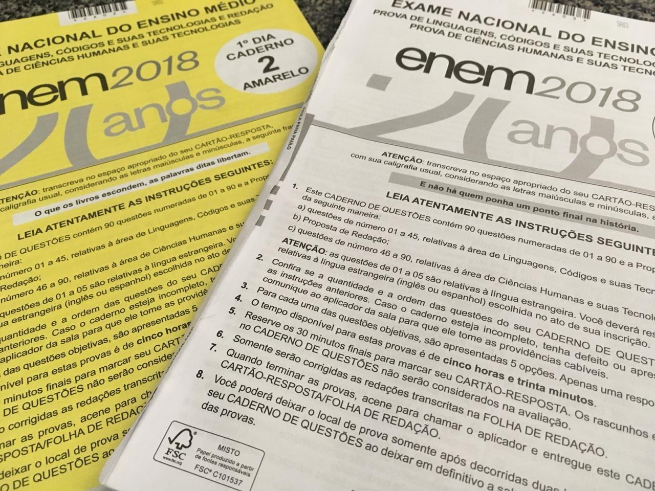 Resultado do pedido de isenção do Enem 2019 é divulgado
