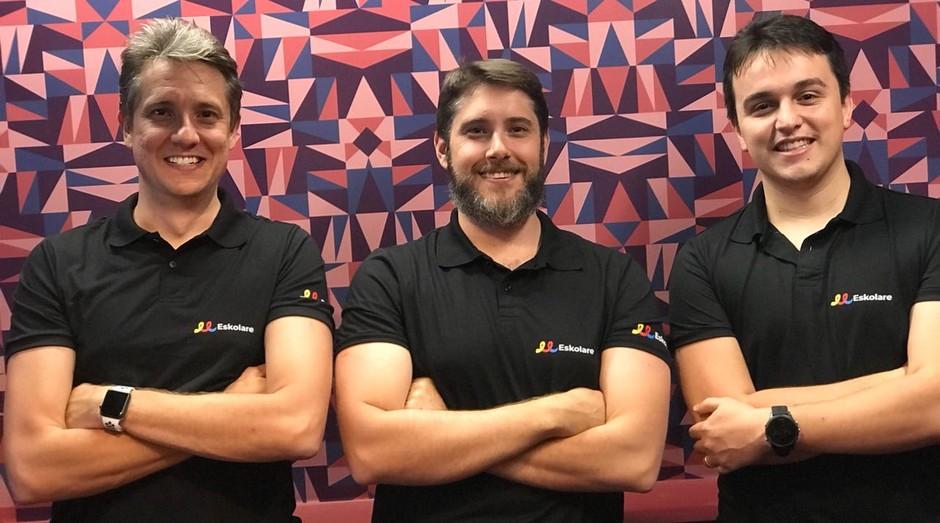 Fundadores da Eskolare, empresa que cria lojas virtuais para escolas (Foto: Divulgação)