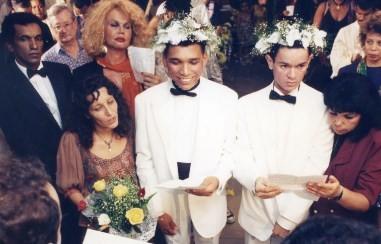 Casamento de Claudio Nascimento Silva e Aduato Belarmino Alves noticiado por Boechat em 1994