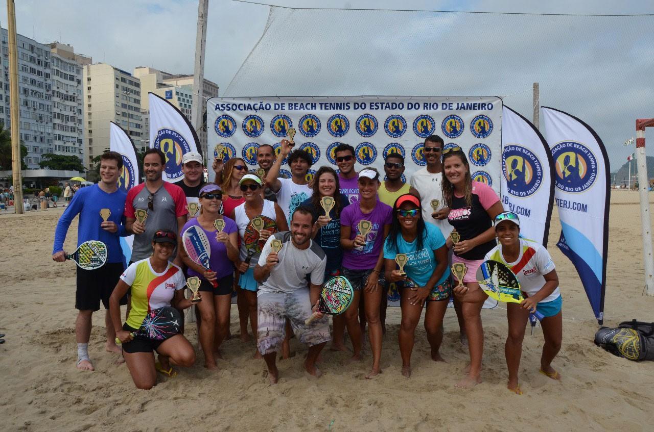 Os campeões da etapa de Copacabana