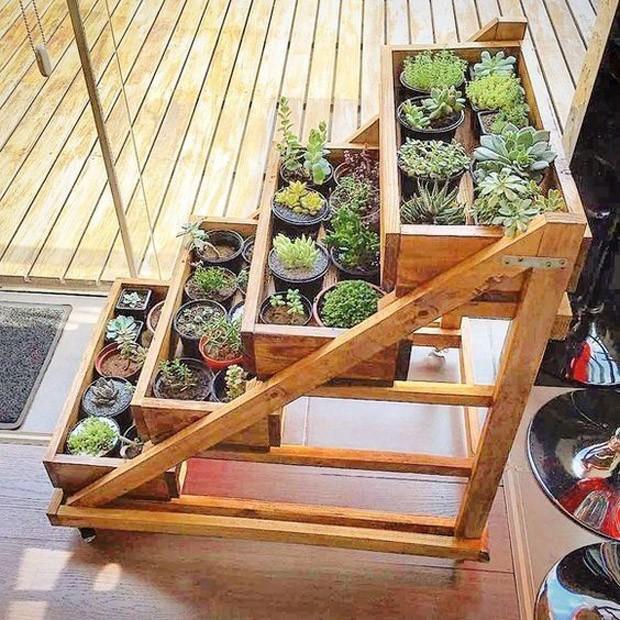 Caixote de madeira: Abrigue sua horta! (Foto: Pinterest/Reprodução)