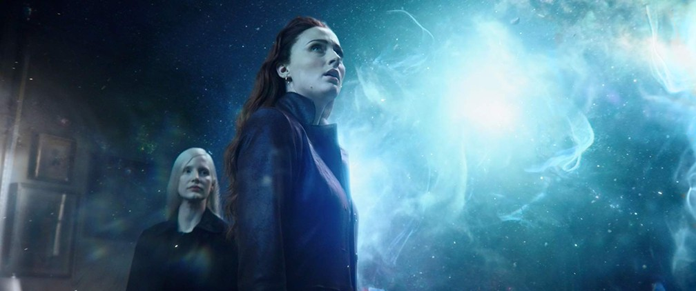 Jessica Chastain e Sophie Turner em cena de'X-Men: Fênix Negra' — Foto: Divulgação