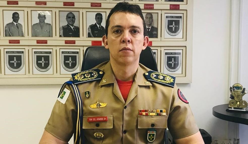 Tenente-coronel Alexandre Spindola Ataídes, chefe interino da Casa Militar do DF — Foto: GDF/Reprodução