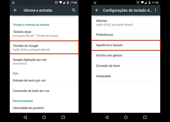 Abra as opções de aparência o teclado do Google (Foto: Reprodução/Paulo Alves)