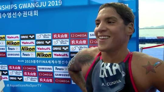 É ouro! Ana Marcela é campeã mundial dos 5km e se torna a maior medalhista da história