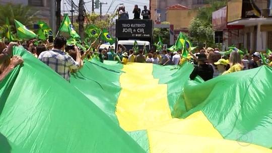 Manifestações a favor da candidatura de Bolsonaro ocorrem em 57 cidades