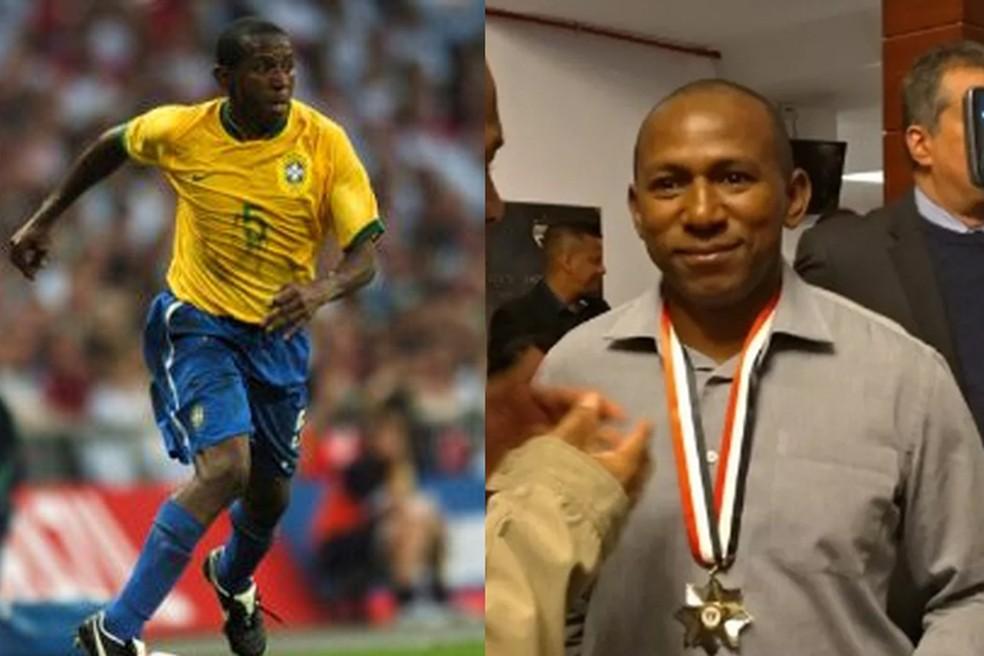 Mineiro em 2007 e atualmente — Foto: Divulgação / CBF / São Paulo FC