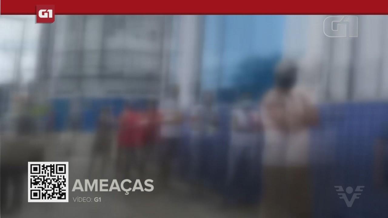 G1 em 1 Minuto - Santos: Jornalista é ameaçado ao registrar fila grande em banco