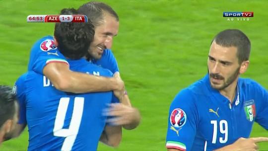 """""""Brasiliano"""" faz gol e conduz seleção italiana para disputa da Eurocopa 2016"""