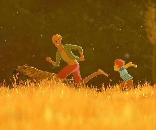 Pai e filho correndo (Foto: Reprodução/Instagram (@omario2d))
