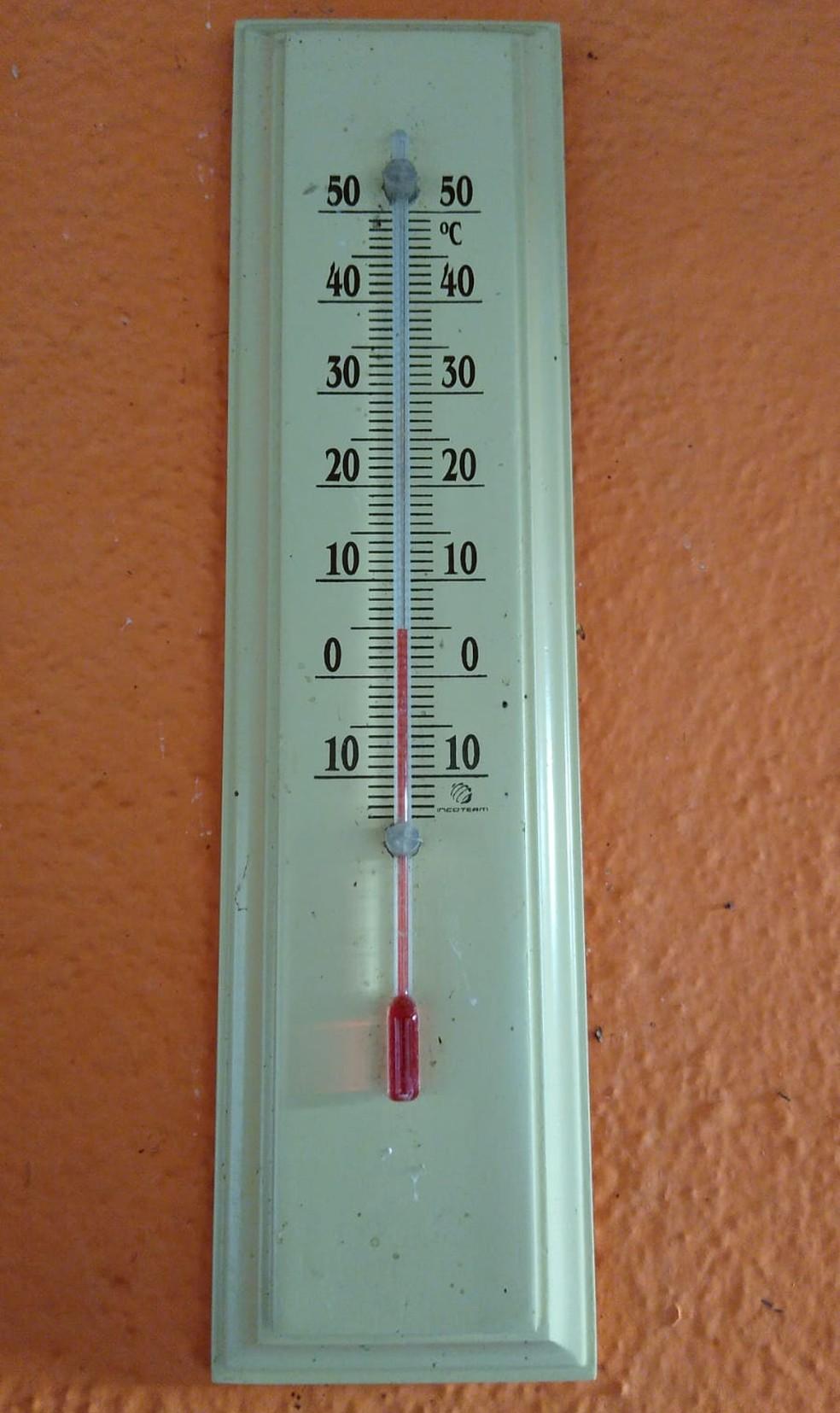 No Brejal, distrito da Posse, em Petrópolis, os termômetros marcaram 0ºC nesta manhã — Foto: Reprodução