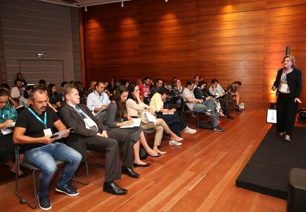 Jamile Coelho durante apresentação no Festival de Inovação e Cultura Empreendedora (Foto: Alexandre DiPaula)