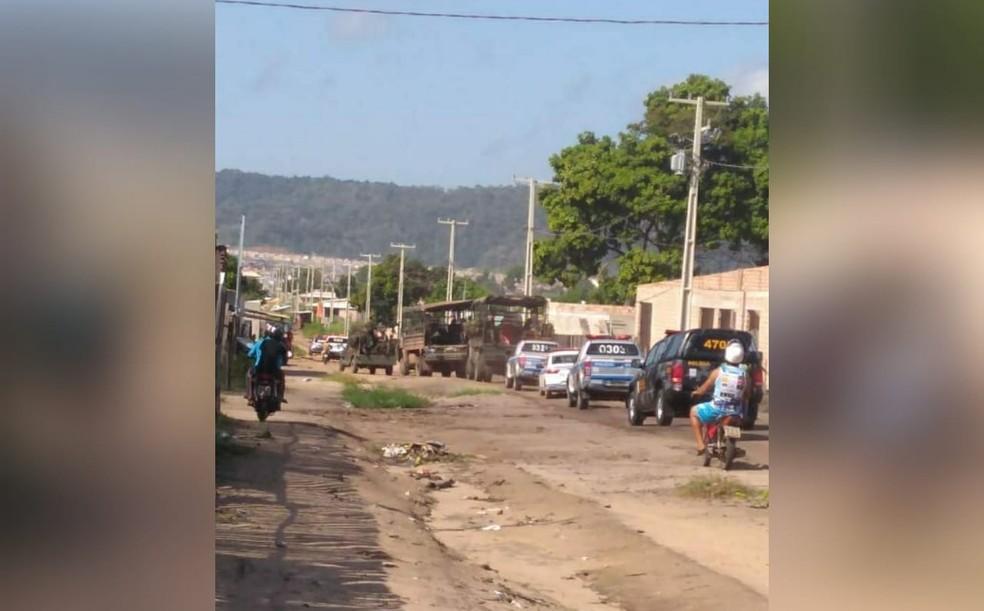 -  Operação conjunta da PMPA e Exército Brasileiro na área de ocupação Vista Alegre do Juá em Santarém, no Pará  Foto: Reprodução/Redes Sociais