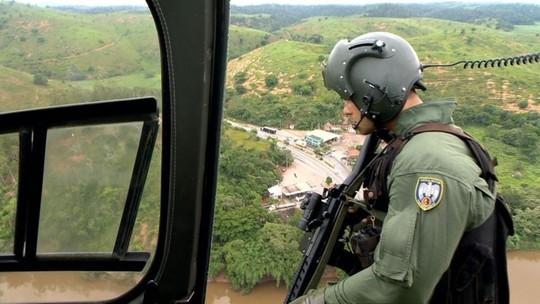 VÍDEO: Polícia sobrevoa divisa do Espírito Santo com o RJ