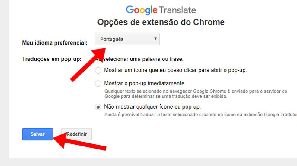 Google Tradutor Extens O Para Chrome Traduz Palavras Com