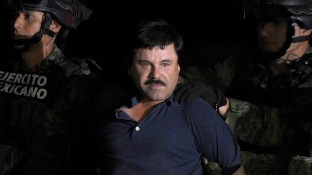 """Joaquín """"El Chapo"""" Guzmán era funcionário cartel de Guadalajara, quando jovem, mas escalou posições e se tornou líder da organização criminosa (Foto: AFP via BBC)"""